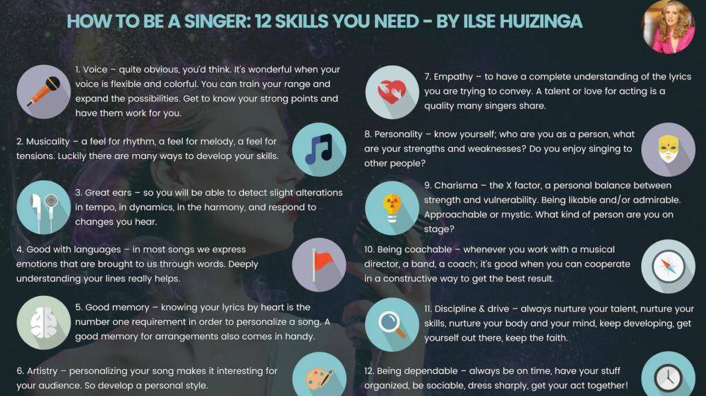How to be a singer 12 skills you need - Ilse Huizinga