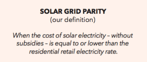 Solar Grid Parity-definition