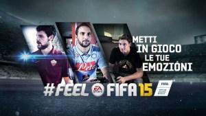 Un trailer per FeelFifa 15 con Higuain, De Sciglio, Destro e Pardo