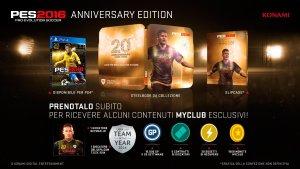 Pro Evolution Soccer 2016, da Amazon i contenuti della Anniversary Edition
