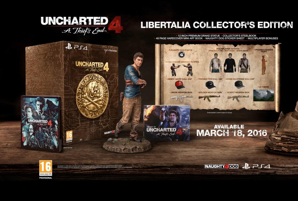 Uncharted 4: A Thief's End arriva il 18 marzo, annunciate le edizioni speciali