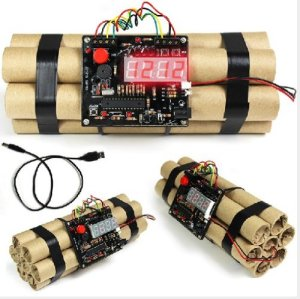 Digital Defusable Bomb Alarm Clock
