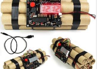 Digital Defusable Bomb Alarm Clock