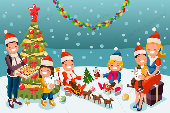 Free My 3d Christmas Tree Animated Wallpaper Winter Christmas Party Night Illustration Image Illustration