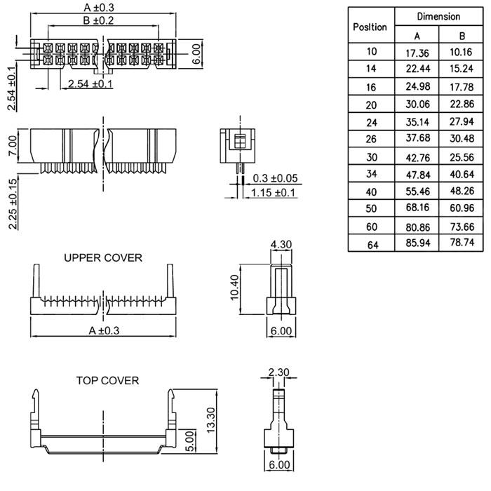 10 pin connector Schaltplang