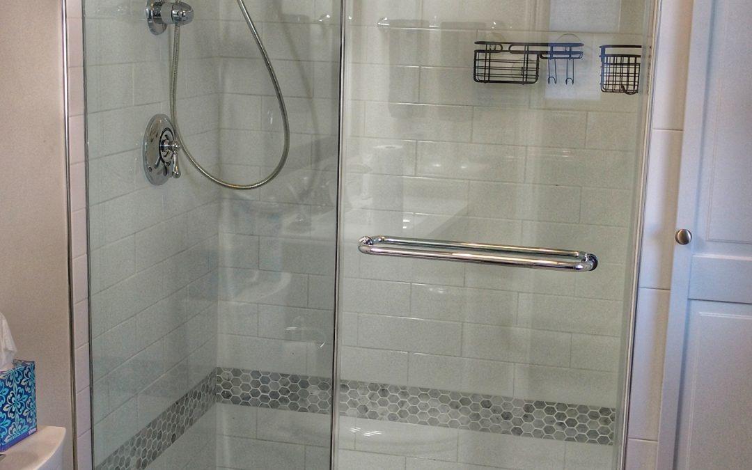 Door Hinge Towel Rack Frameless Neo Angle Enclosure On