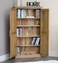 Arden solid oak furniture CD DVD storage cabinet cupboard ...