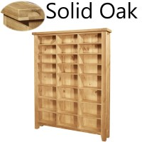 Lyon solid oak furniture large CD DVD media storage ...