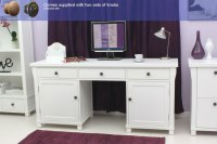 New England white painted furniture large hideaway office ...