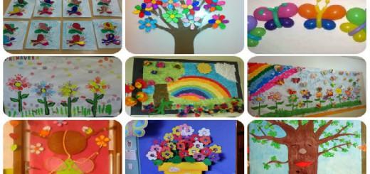 M s de 50 nuevas ideas para decorar el aula en primavera for Un mural facil de hacer
