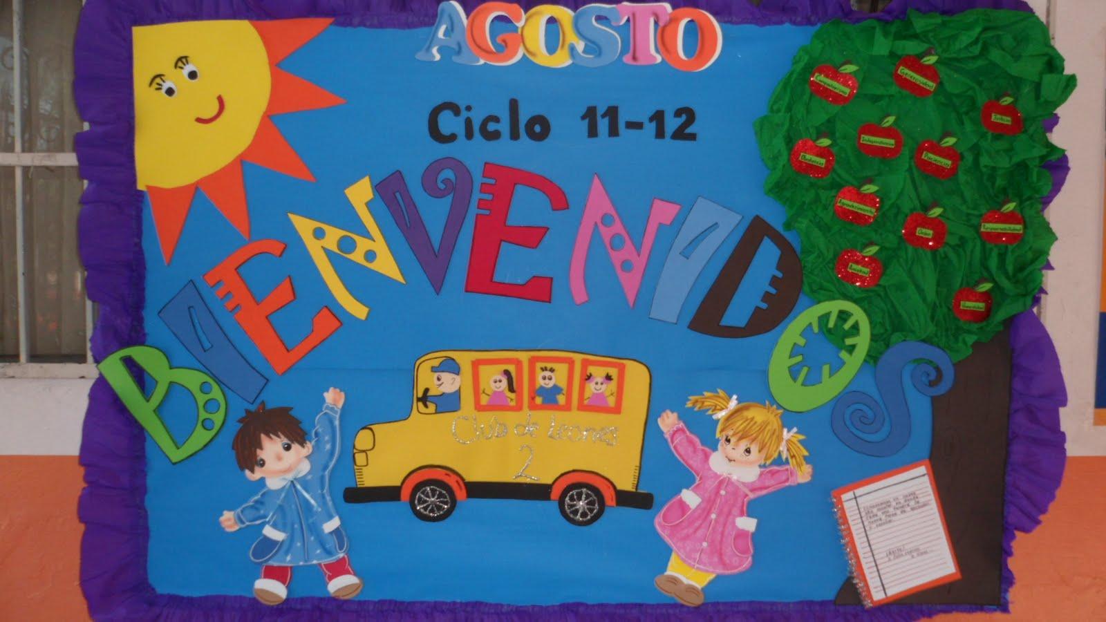 Peri dico mural del mes de agosto mural de bienvenida 1 for Diario mural en ingles