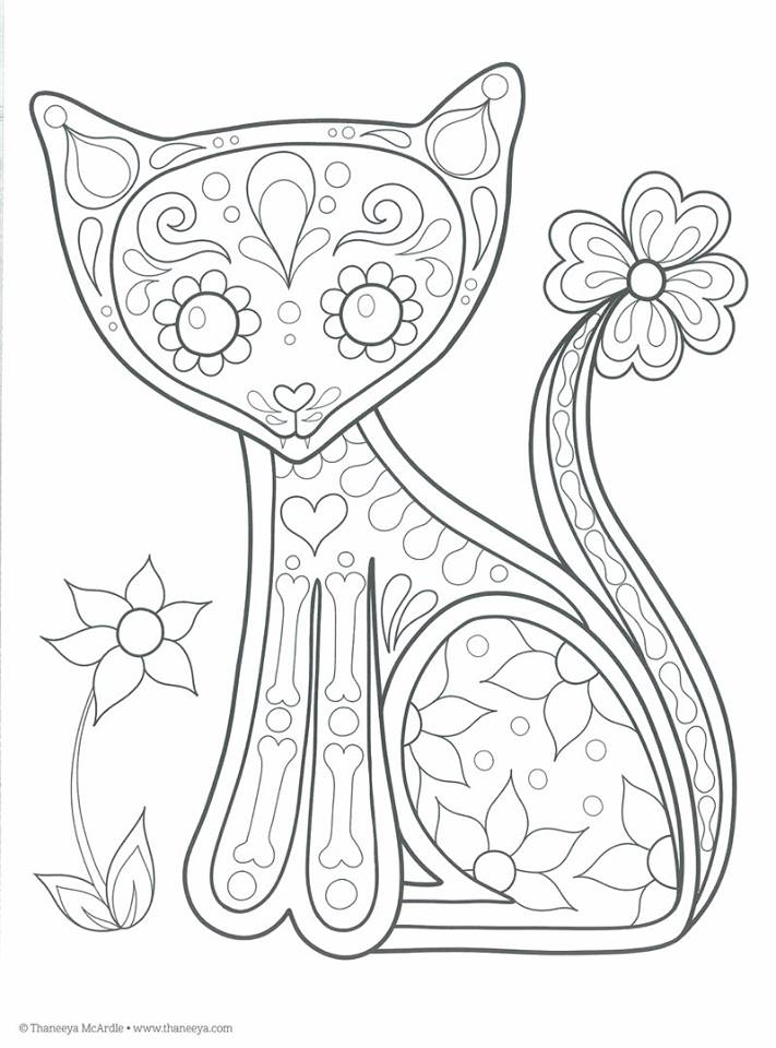 Catrina Day Of The Dead Coloring Pages Printable Catrina - Auto ...