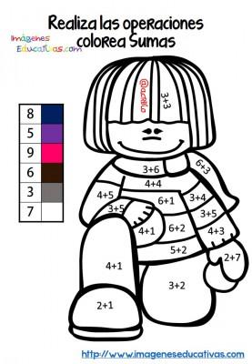 Fichas colorear sumas y restas (5)