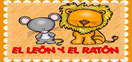 Fábula  el león y el ratón PORTADA