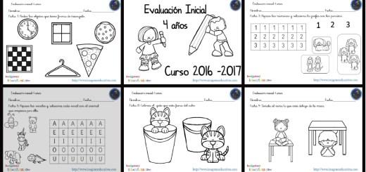 Evaluación inicial 4 años 2016-2017 PORTADA