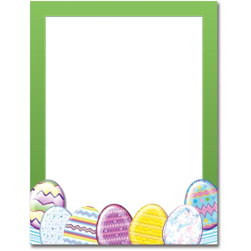 Easter Eggs Letterhead Stationery The Image Shop