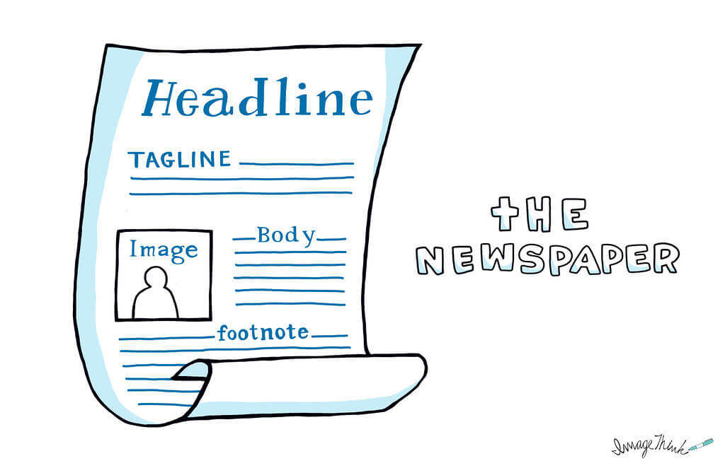 Happy New Year, from ImageThink graphic recording! ImageThink - Newspaper Headline Template