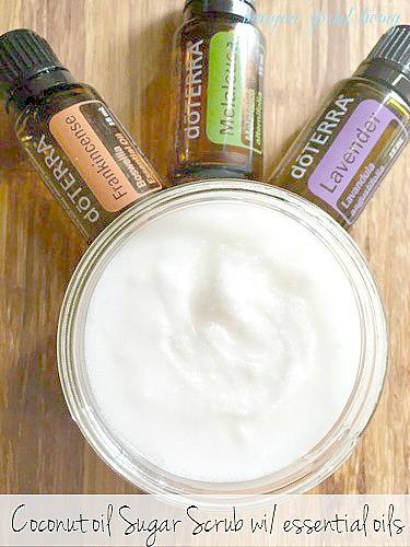 A Sugar Scrub Recipe You'll Love (with essential oils)