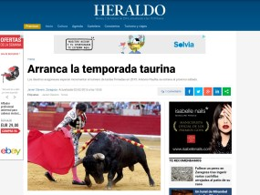 Arranca la temporada taurina, Imanol Sánchez en Heraldo