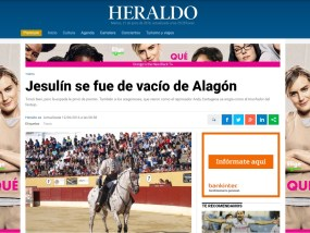 Portada Heraldo Festival Alagon Imanol Sanchez