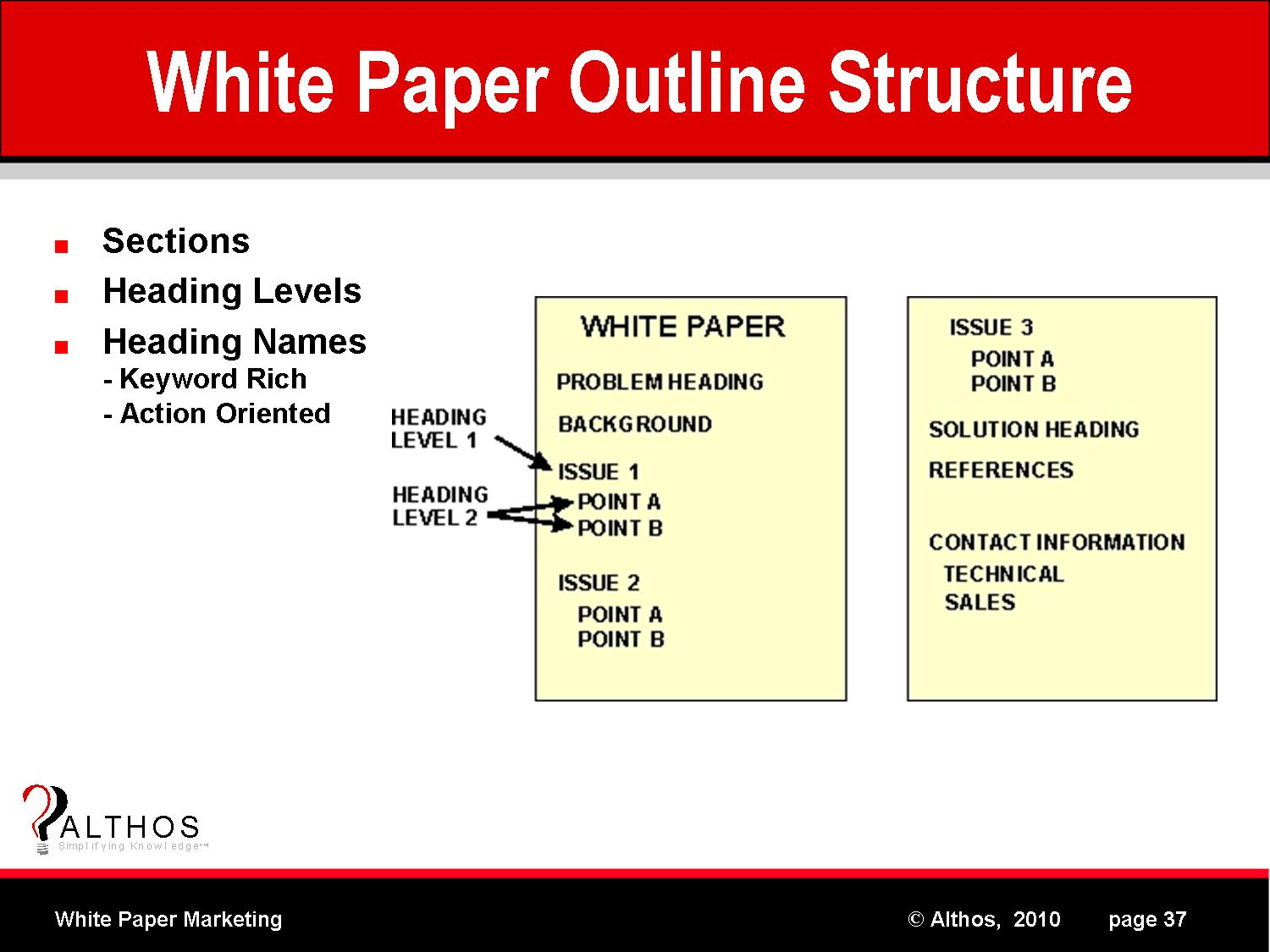 how to write a white paper format How to write a technical white paper for a technology product.