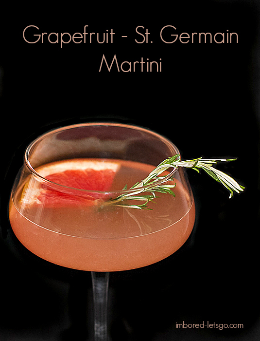 Grapefruit St-Germain Martini