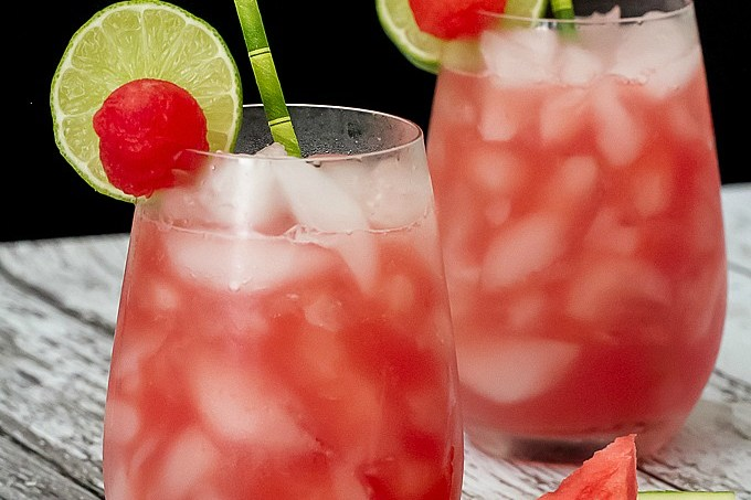Watermelon Moscow Mule with fresh watermelon juice