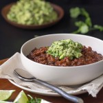 Beef and Black Bean Chili with Guacamole