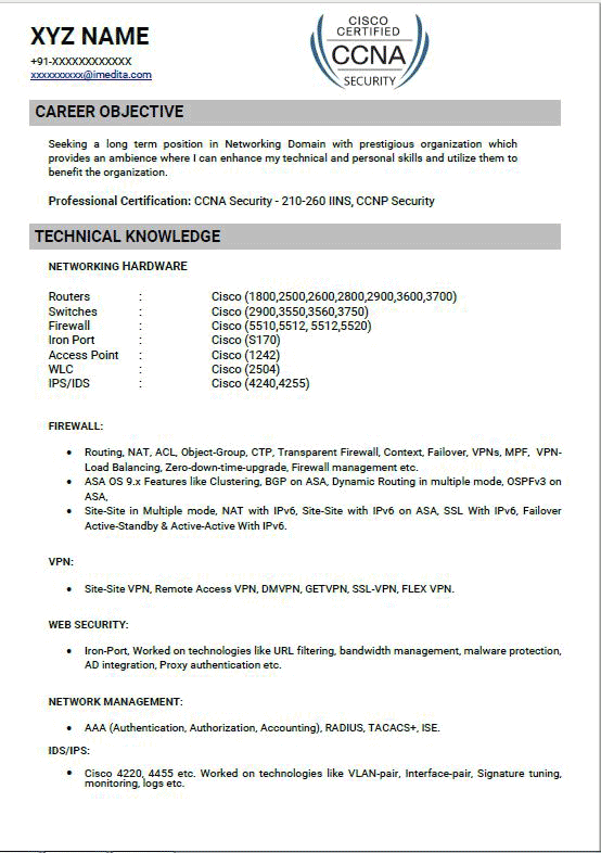 atlas security resume template