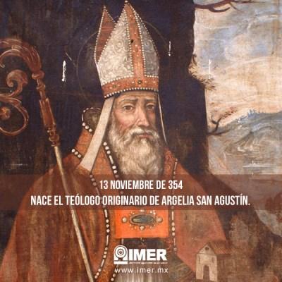 13 de noviembre: Nace Agustín de Hipona o san Agustín – IMER