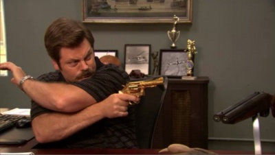 Parks And Recreation Wallpaper Quotes Nick Offerman Internet Movie Firearms Database Guns In
