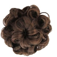Women Braided Scrunchie False Hair Extension Curly Up do ...