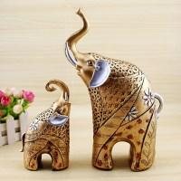 Elephant Statue Animal Ornaments Home Decor Living Room ...