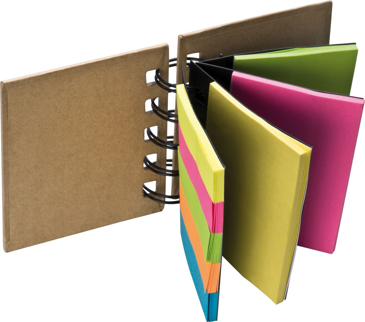 Small ring-binder with sticky notes, brown iMi Partner as - The