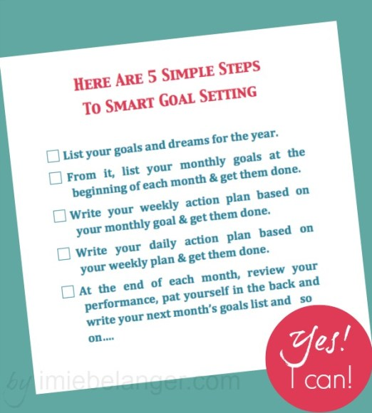 5 simple smart goal setting