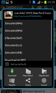 Tubemate download android YouTube downloader