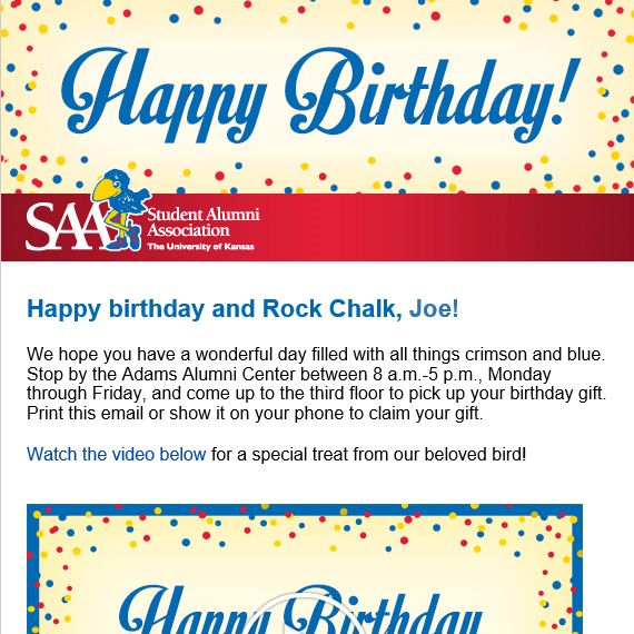 Sample Happy Birthday Email See A Sample Birthday Email Birthday