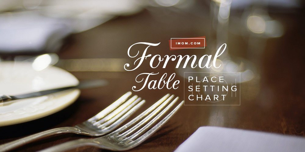 Formal Table Place Setting Chart - iMom