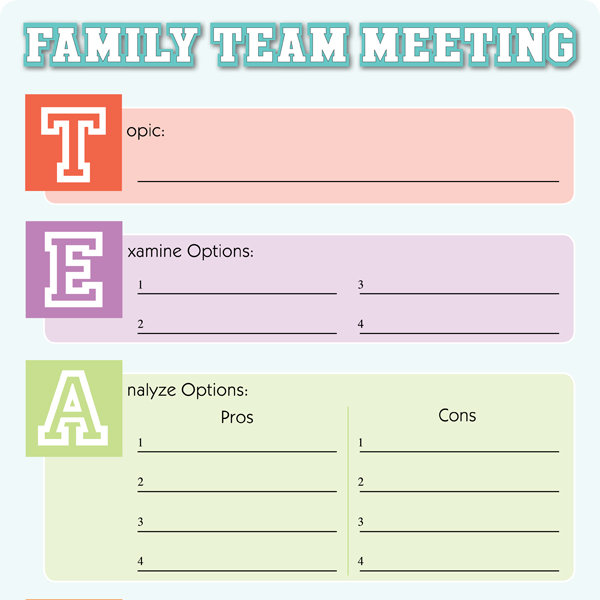5 Most Important Things to Do at a Family Meeting - iMom