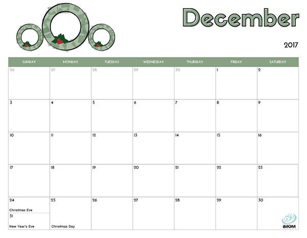 2017 Printable Calendar for Kids - iMom - free printable calendar