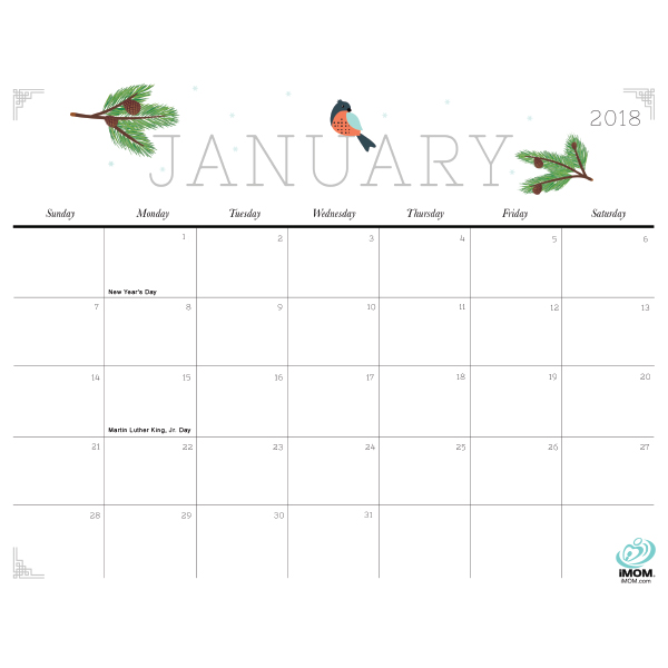 Cute and Crafty 2018 Calendar - iMom