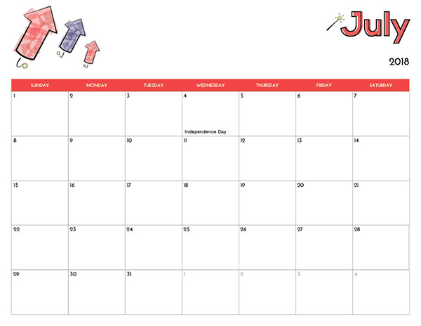 2018 Free Printable Calendar for Kids - iMom - free printable calendar