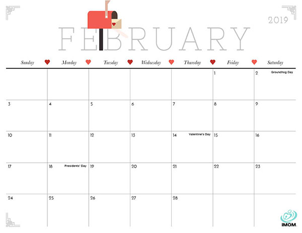 Cute and Crafty 2019 Calendar - iMom