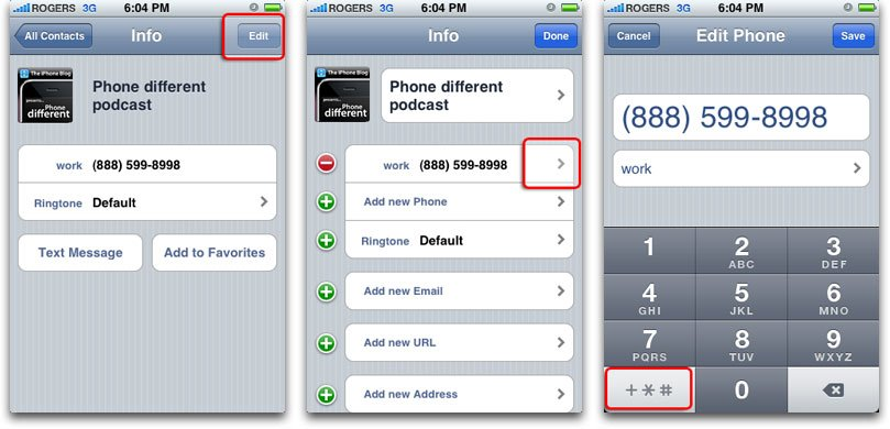 How To Add Extensions or Extra Digits to iPhone Telephone Numbers