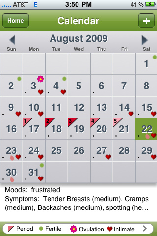 FOR THE LADIES App vs App Review iPeriod vs Period Tracker for - calendar tracker