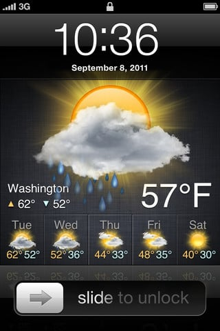 How To Change The Wallpaper On Iphone Lock Screen Weather App Adds Weather To The Iphone Lock