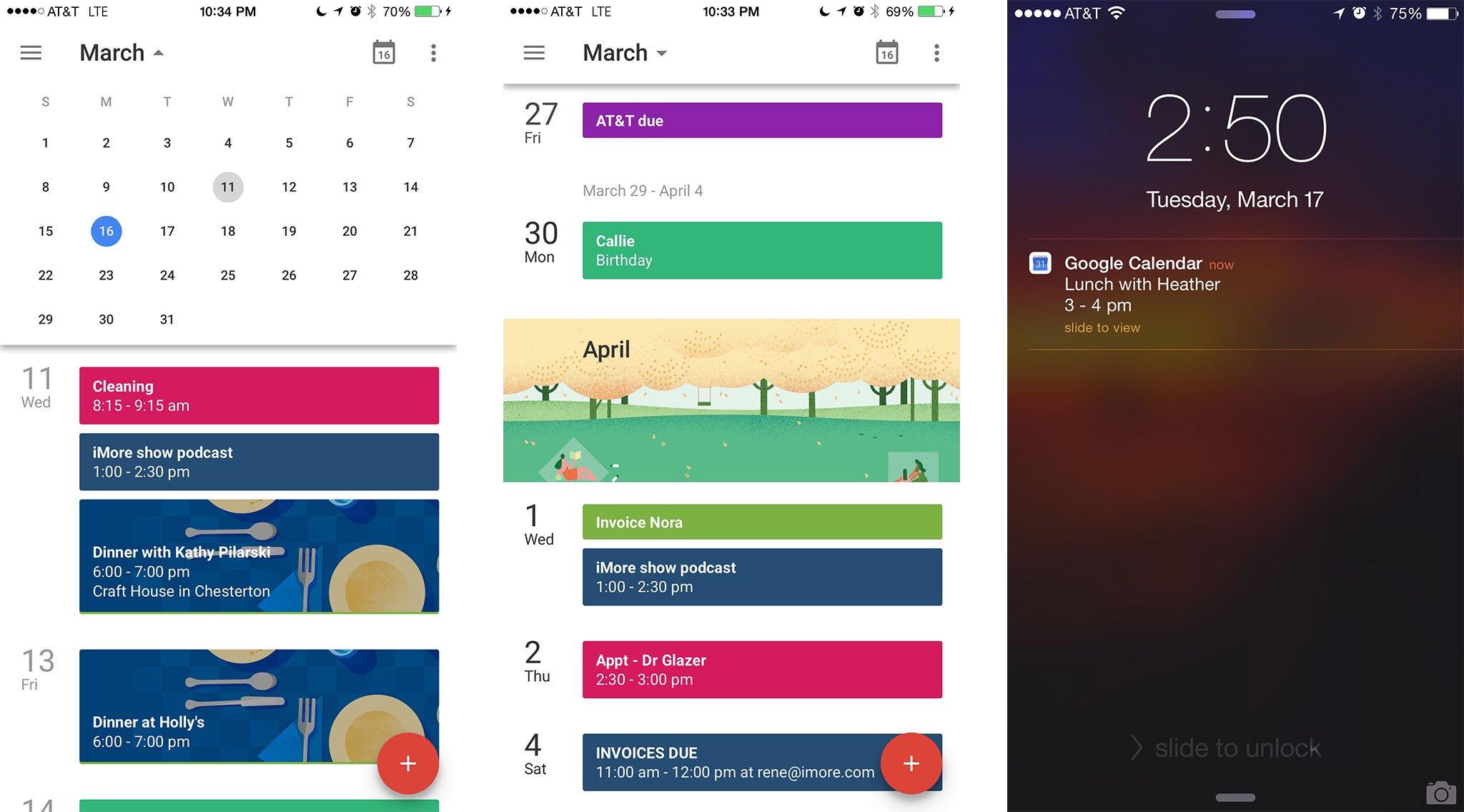 Calendar Schedule Widget Calendar Widget Month Agenda Google Play Google Calendar For Iphone Review Imore