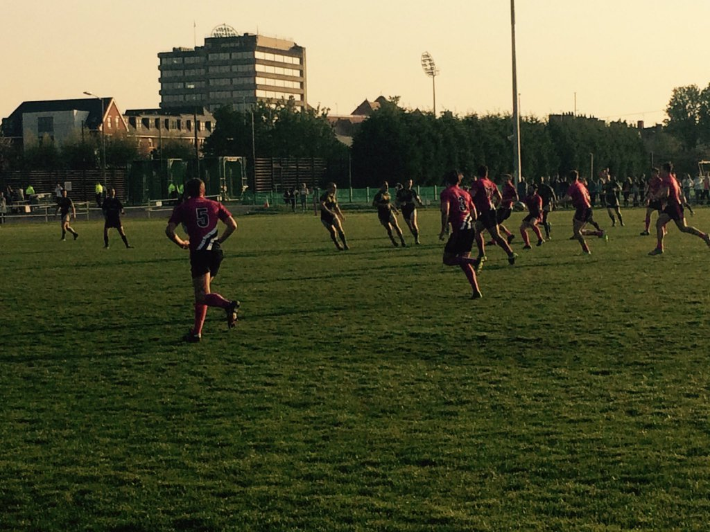 The game was played against the backdrop of a glorious summer evening.