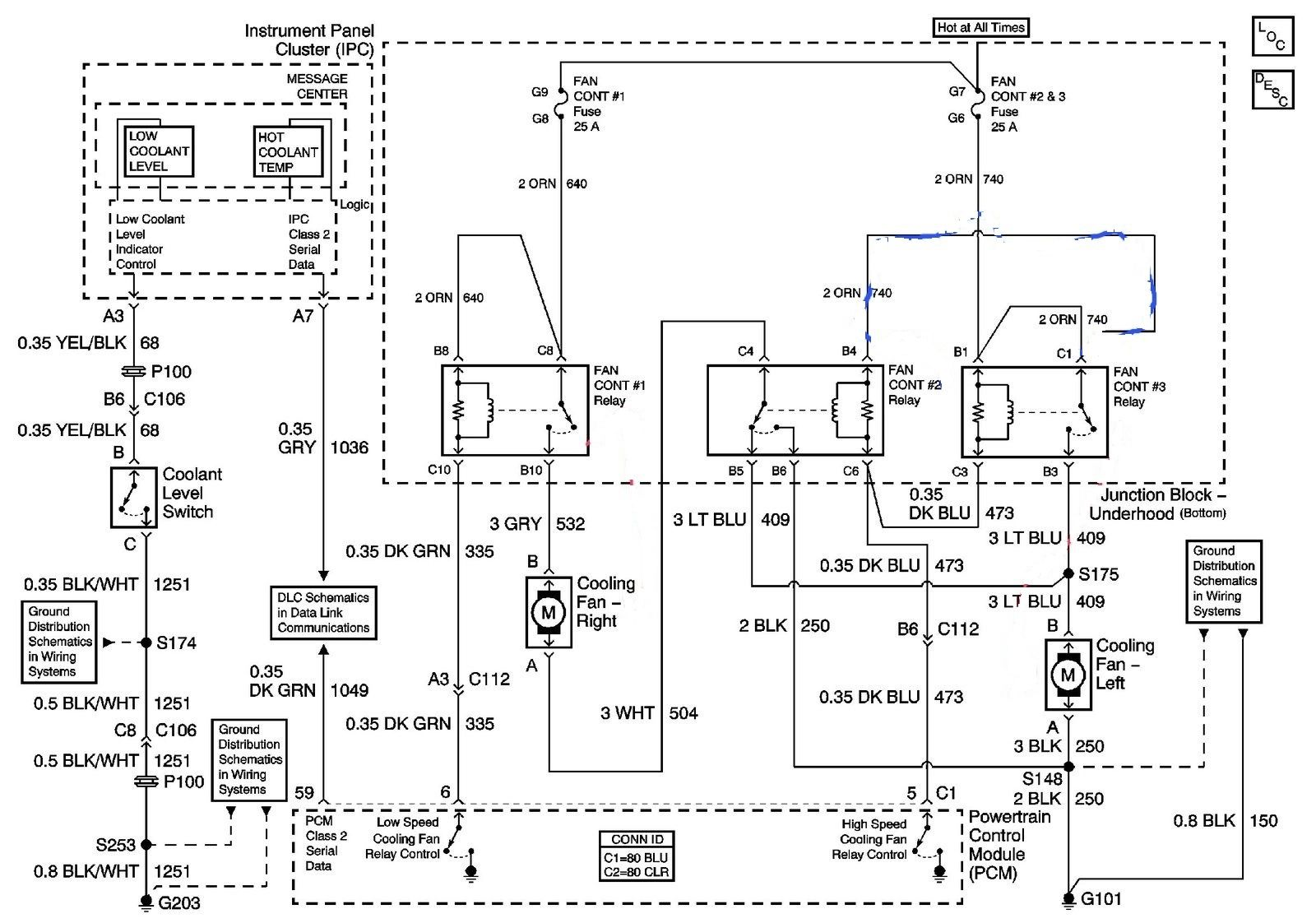2004 malibu cooling fan wiring diagram