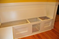 kitchen storage bench seat plans | Quick Woodworking Projects